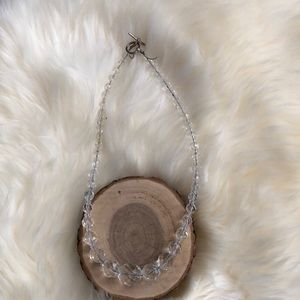 Vintage crystal necklace with sterling clasp